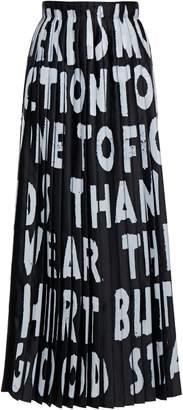 MM6 MAISON MARGIELA Pleated Printed Satin-twill Maxi Wrap Skirt