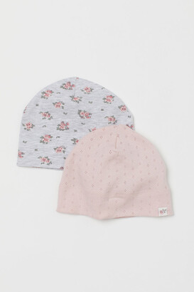 H&M 2-pack Jersey Hats - Pink