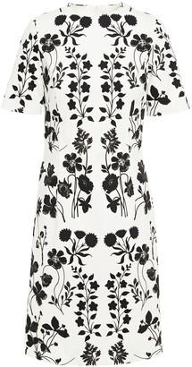 Oscar de la Renta Floral-print Cotton-blend Twill Dress
