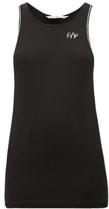 Eytys Toni Ribbed Jersey Tank Top - Womens - Black
