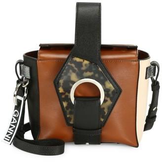 Ganni Colorblock Leather Crossbody Box Bag