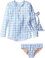 Toobydoo Delft Blue Rashguard Set (Infant/Toddler/Little Kids/Big Kids)