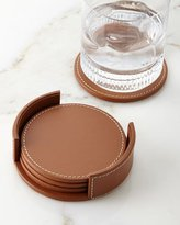 Ralph Lauren Home Wyatt Leather Coasters, Set of 4