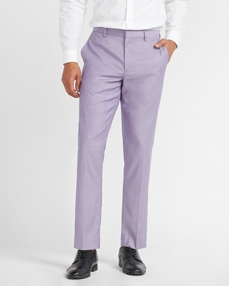 Express Extra Slim Purple Textured Performance Blend Suit Pant