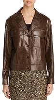 Lafayette 148 New York Theodosia Lightweight Leather Jacket