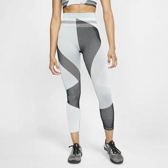 Nike Women's Seamless 7/8 Training Tights Sculpt Icon Clash