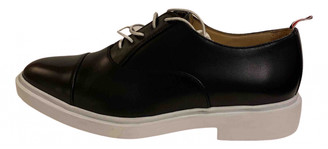 Thom Browne Navy Leather Lace ups