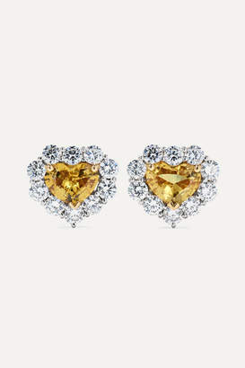 Bayco 18-karat Gold And Platinum, Sapphire And Diamond Earrings