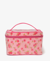 Forever 21 Patent Floral Cosmetic Bag