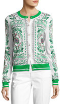 Tory Burch Greenfield Mixed-Print Cardigan