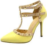 Wild Diva Light Yellow Adora T-Strap Pump