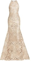 Thumbnail for your product : Naeem Khan Resort Ribbon-Embroidered Gown