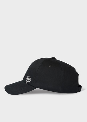 Paul Smith + Christoph Niemann - Black 'Hello Goodbye' Embroidered Cotton Baseball Cap