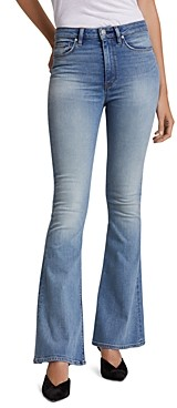 Hudson Holly High-Rise Flare Jeans in Word Play