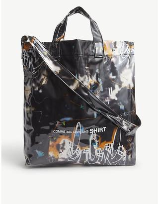 Comme des Garçons Shirt Futura graphic-print vinyl small tote