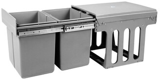 My Plaza 15L Twin Pull Out Bins Grey