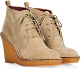 Marc by Marc Jacobs Sand Suede Lace-Up Wedge Booties