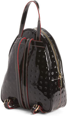 Made In Italy Patent Leather Dome Shaped Backpack