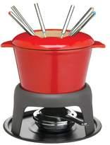 Kitchen Craft Master Class Cast Iron Meat / Cheese / Chocolate Fondue Set, 21 x 18 cm - Red
