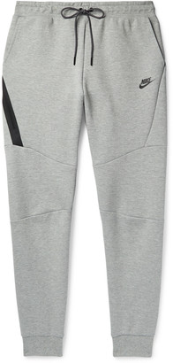 Nike Sportswear Slim-Fit Tapered Melange Cotton-Blend Tech Fleece Sweatpants