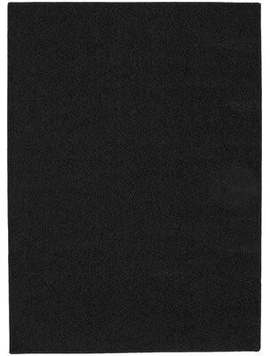Zoomie Kids Moyer Black Area Rug Rug Size: 4' x 6'