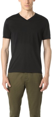 Theory Men's Claey V Plaito Dressy V Neck T Shirt
