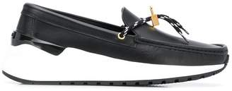 Buscemi contrast sole loafers