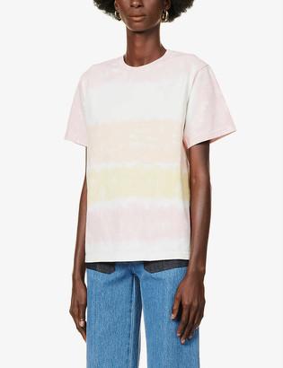 See by Chloe Tie-dye pattern cotton-jersey T-shirt