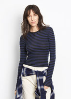 Vince Striped Ribbed Cashmere Crew