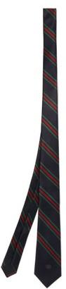 Gucci Striped Silk-satin Tie - Navy Multi