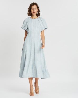 Rebecca Vallance Dondra Short Sleeve Midi Dress