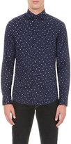 Armani Jeans Slim-fit Eagle-print Stretch-cotton Shirt