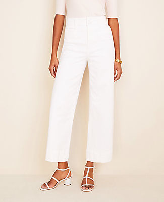 Ann Taylor Petite Wide Leg Crop Jeans
