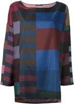 Odeeh printed silk blouse