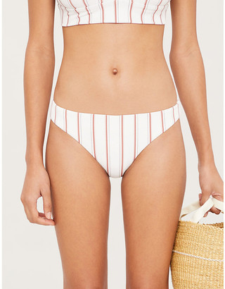 Eberjey Sum Stripes Annia mid-rise bikini bottoms