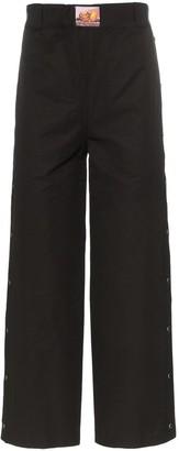 Boramy Viguier Side Popper Detail Straight Leg Trousers