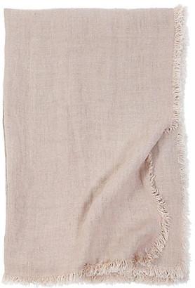 Pom Pom at Home Laurel Linen Throw - Blush
