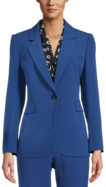 Bar III Notched One-Button Blazer, Created for Macy's