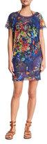 Fuzzi Floral-Print Coverup Dress