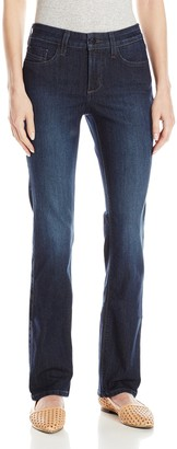 NYDJ Women's Petite Marilyn Straight Jeans in Premium Lightweight Denim