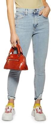 Topshop PETITE Jamie Bleach Skinny Jeans 28-Inch Leg