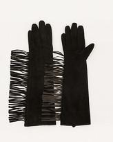 Le Château Suede Fringe Glove