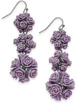 INC International Concepts I.N.C. Gold-Tone Rose Bouquet Triple Drop Earrings, Created for Macy's