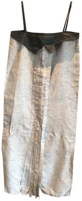 Byblos Grey Linen Dress for Women
