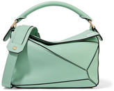 Loewe Puzzle Small Leather Shoulder Bag - Mint
