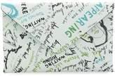 Maison Margiela slogan print envelope wallet