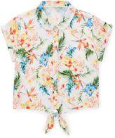 Jigsaw Girls Tropical Print Woven Shirt