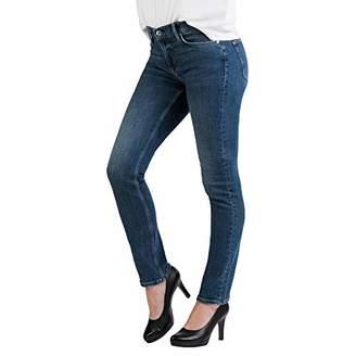 S'Oliver Women's Shirt Linen Mix Check Straight Jeans,(Size: 40/L30)