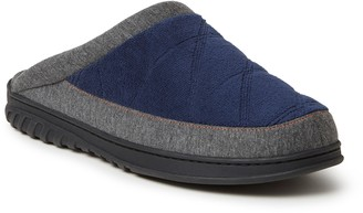 Dearfoams Men's Ryan Quilted Terry Scuff Slippers