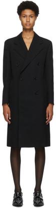 Junya Watanabe Black Wool Double-Breasted Coat